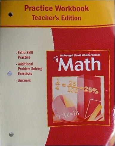 McDougal Littell Middle School Math Course 1
