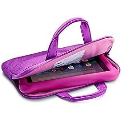 NuPro Zipper Sleeve for Fire Kids Edition Tablets, Purple/Pink