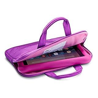 NuPro Zipper Sleeve for Fire 7 Kids Edition Tablet and Fire HD 8 Kids Edition Tablet, Purple/Pink
