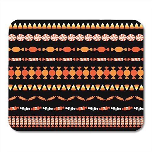HZMJPAD Clipart Corn Halloween Candy Border Patterns Autumn Edge Mouse Pad 8.6 X 7.1 in