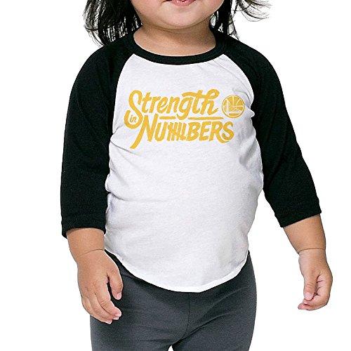 Golden State Warriors Strength In Numbers Toddler Unisex Raglan Shirt Printed Baseball Uniform 3/4 Sleeve