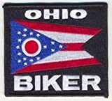 OHIO Biker STATE Flag Embroidered Biker Motorcycle MC Club Vest Patch PAT-1347