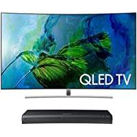 Samsung QN65Q8C 65 Curved 4K UHD HDR QLED Smart TV with UBD-M9500 4K Ultra HD Blu-ray Player