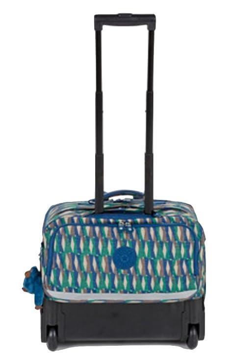 Kipling Topanga - Bolsa escolar Blue Multi-colour White Beige Brown mediano