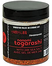 YOSHI Japanese Togarashi Dry Chili with Sea Salt Seasoning, 55g (1.94oz) | Japanese Chili Spice Blend, Use On Udon and Soba Dishes, Potatoes and Fries, or On Steamed Vegetables