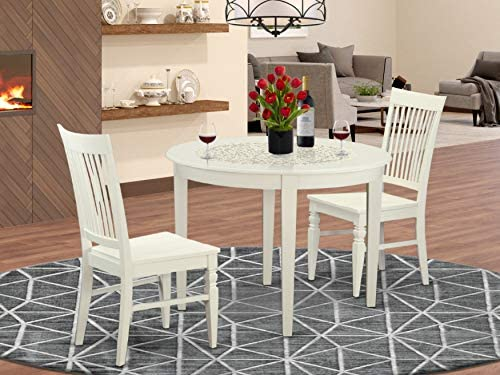 East West Furniture Small Dining Table Set 3 Pc
