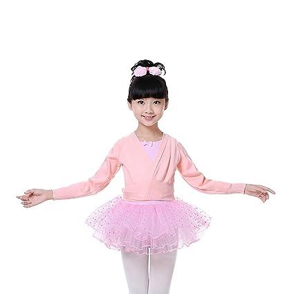 DoGeek Chaqueta Ballet Larga Chaqueta Danza Yoga Algodón Cardigan Manga Larga para Niña y Mujer