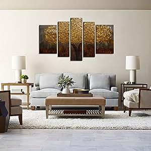 Raybre art 5pcs set 100 pintados a mano cuadros en for Amazon decoracion pared