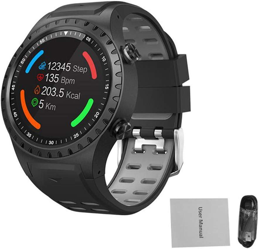 WWVAVA Reloj Deportivo con GPS Llamada Bluetooth Modo Multideporte Brújula Altitud Deportes al Aire Libre Reloj Inteligente Llamada y recordatorio de Mensaje Pulsera, Negro