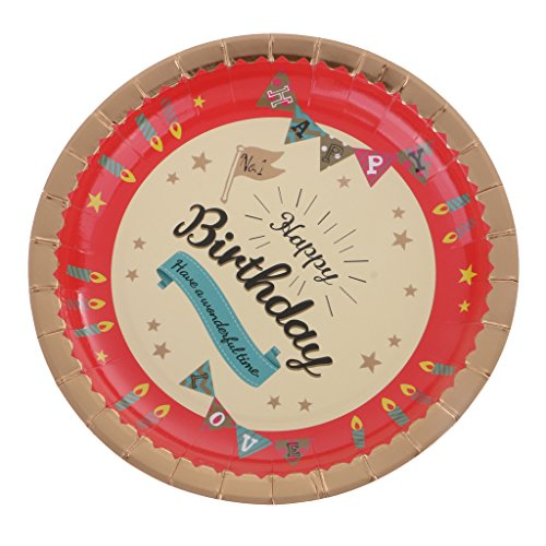 MonkeyJack 6 Pieces Sturdy And Durable Party Food Paper Plates For Birthday Party by MonkeyJack (Image #8)