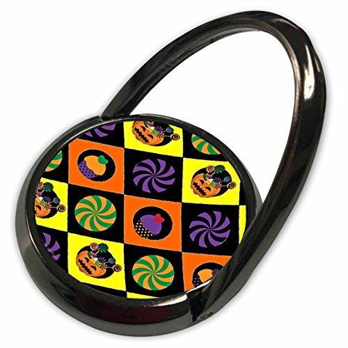 3dRose Lee Hiller Designs Holidays Halloween - Halloween Colorful Jack o Lanterns Candy Cupcakes - Phone Ring (Cupcakes Halloween Jack)
