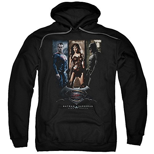 Trevco Men's Batman Vs. Superman 3 Phases Hoodie Sweatshirt at Gotham City Store