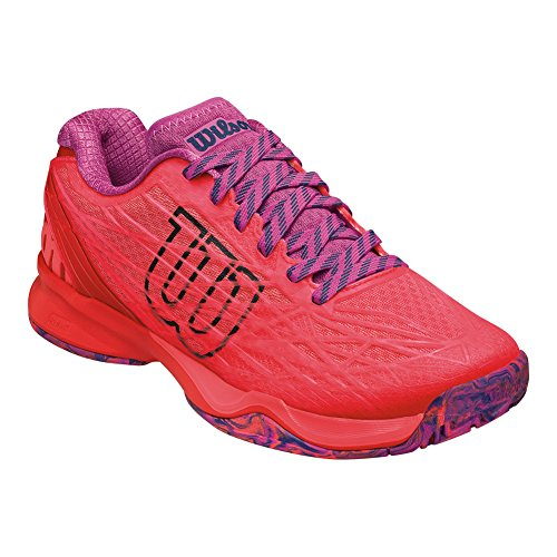 Wilson Women's KAOS Fiery Coal/Fiery Red/Rose 9.5 B US