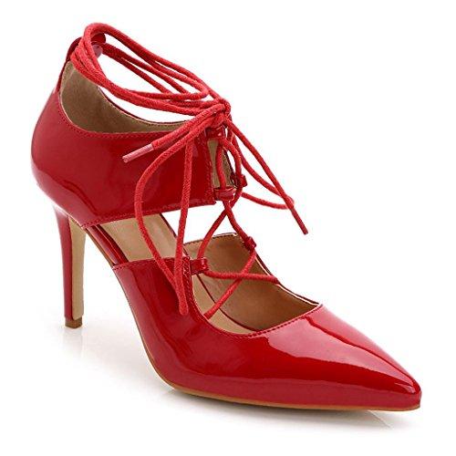 Fashion M 72 8 B Doris Platform Pumps Heel US TS889 High 5 Bridal Women's Red Shoes wedding Evening pqd4awd