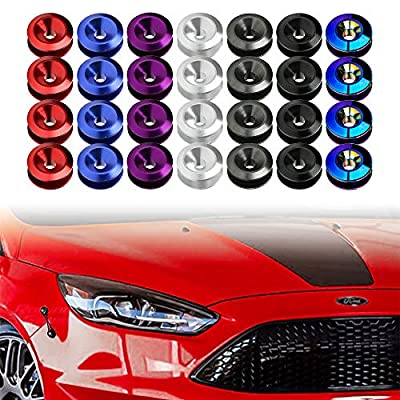 JDM Bumper Quick Release Fasteners For Car Bumpers, Trunk Fender and Hatch Lids O-Rings x 4