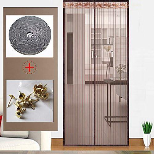 Cortina mosquitera Puerta con pantalla de velcro Puerta con ...