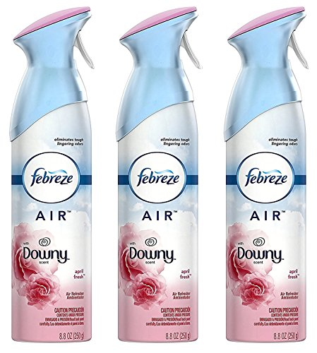 Febreze Air Refresher - With Downy April Fresh Scent - With NEW OdorClear Technology - Net Wt. 8.8 OZ (250 g) Per Bottle - Pack of 3 Bottles