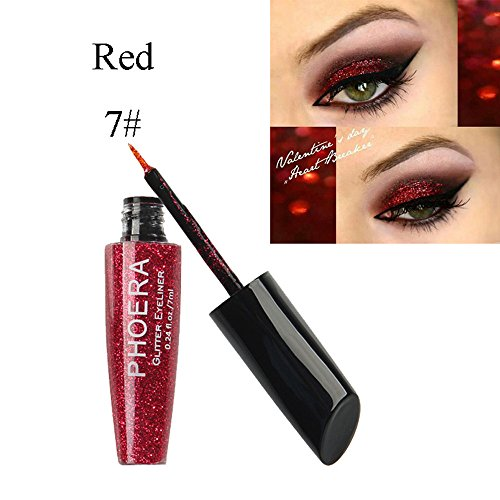 10 Colors Liquid Eyeliner,St.Dona Hot Sale Makeup Metallic Shiny Eyes Eyeshadow Waterproof Glitter Brightening Eyeliner (G)
