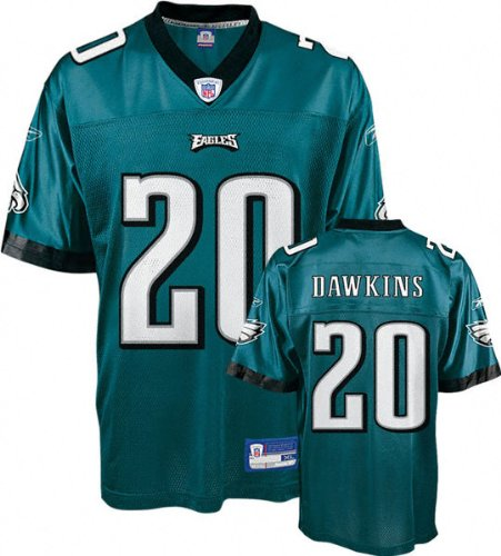 huge selection of 9e6f5 9a62c Amazon.com: Brian Dawkins Green Reebok NFL Replica ...