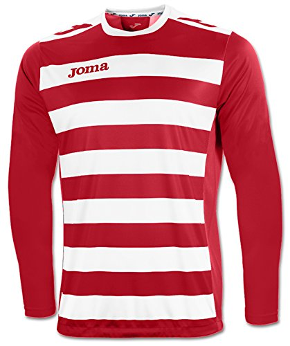 JOMA EUROPA II RED-WHITE L/S T-SHIRT 00-0