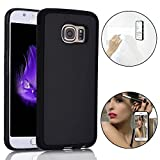Anti-Gravity Selfie Case for Samsung Galaxy S7, Bonice Magical Nano Sticky Hands Free Stick to Glass, Tile, Car GPS, Most Smooth Surface - Black