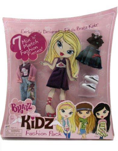 Bratz Fashion Clothes - Bratz Kidz Fashion Pack 7 Mix 'N Match Fashion Pieces Outfits for Doll Includes Purple Dress, Jeans & Shoes