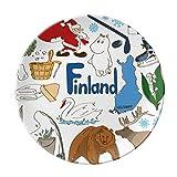 Finland Landscap Animals National Flag Dessert Plate Decorative Porcelain 8 inch Dinner Home
