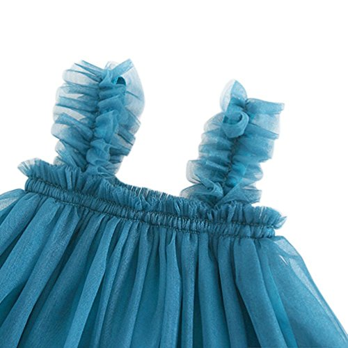 Casual Girl Mesh Tulle Dresses Summer Tutu Blue Little Weixinbuy Beach fw5q00