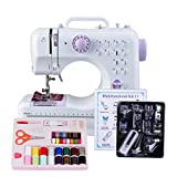 Congerate 12 Stitches 505 Sewing Machine Household Multifunction Double Thread Double Speed with 11pcs Presser Foot Set And Sewing Tools Kit Needlework Box Set 42-in-1