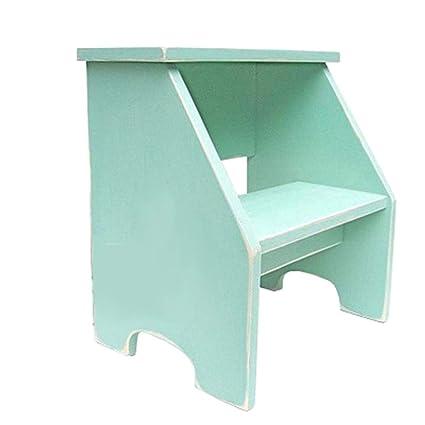 Admirable Amazon Com Qwm Stepstools Wooden Retro Step Stool Machost Co Dining Chair Design Ideas Machostcouk
