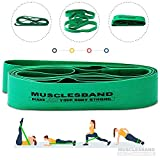 Stretch Band - Exercise Stretch Band Set - Ideal for Yoga, Pilates & Ballet Practice - Improves Flexibility - Great for Injury Recovering Exercises - Premium Quality Stretch Rubber Band (Green)