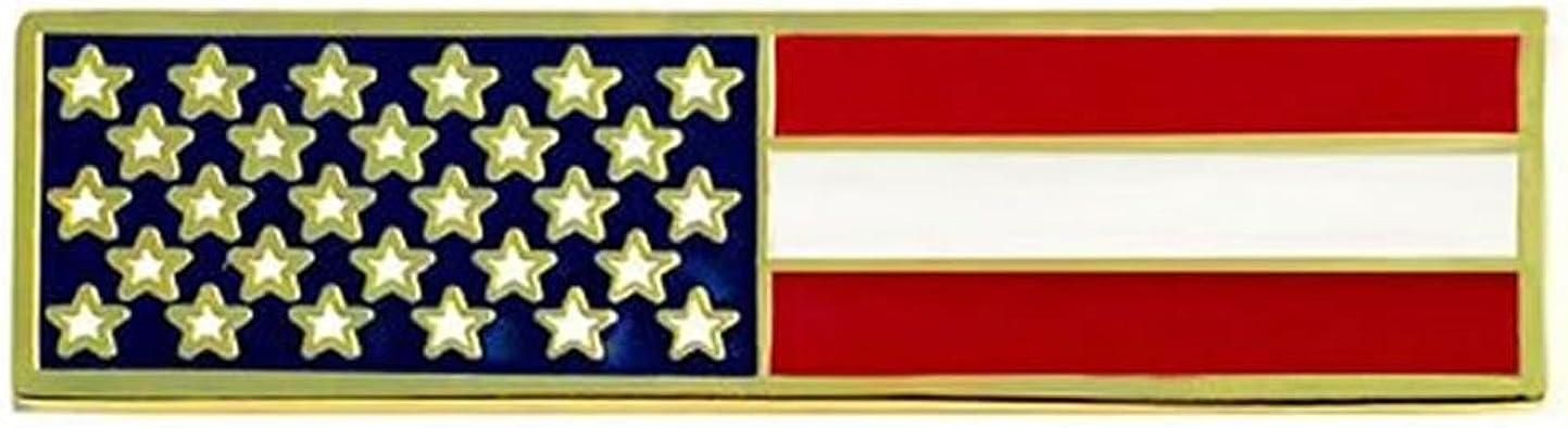 THIN RED LINE US Flag GOLD Uniform Award//Commendation Bar Pin firefighter//dept