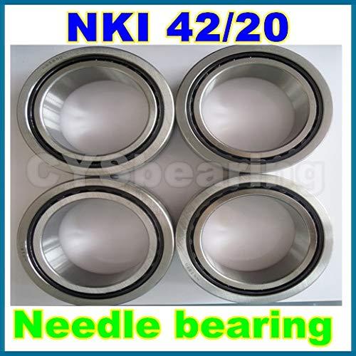 Fevas 4pcs / lot 42x57x20mm 425720mm NKI42/20 Needle Bearing with Inner Ring ()