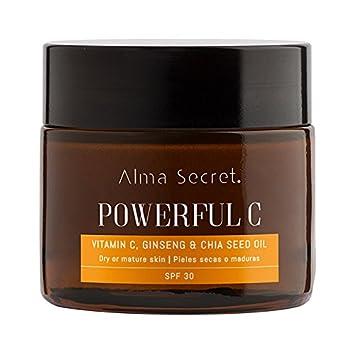 Alma Secret POWERFUL C Crema Iluminadora Antiedad con Vitamina C, Ginseng & Chía. SPF