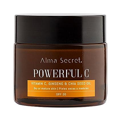 Alma Secret POWERFUL C Crema Iluminadora Antiedad con Vitamina C, Ginseng & Chía. SPF 30-50 ml