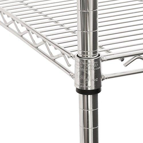 Seville Classics 5-Tier UltraZinc NSF Steel Wire Shelving /w Wheels, 18'' D x 48'' W x 72'' H by Seville Classics (Image #2)