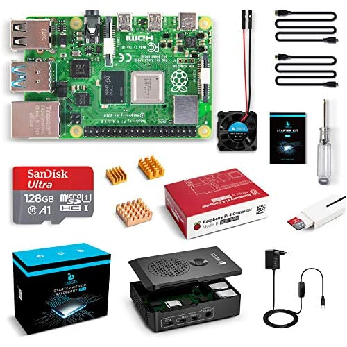 chollos oferta descuentos barato LABISTS Raspberry Pi 4 8GB Kit Incluido Tarjeta SD 128GB Precargada con Raspberry Pi OS Ventilador 3 Disipadores de Calor 2 Micro HDMI Caja y Lector de Tarjetas