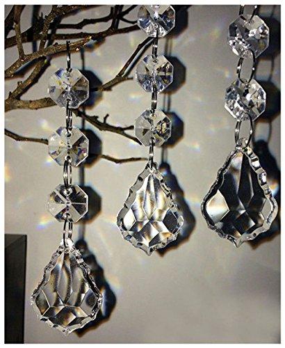 Acrylic Diamond Pendant - Hot 30PCS Acrylic Crystal Beads Garland Chandelier Hanging Wedding Party Celebration Decor (style 9)
