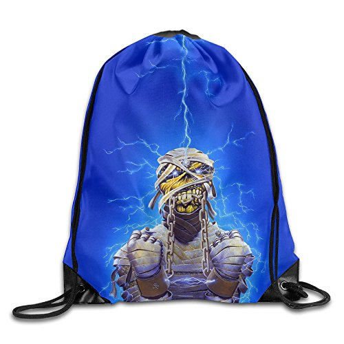 FOODE England Rock Band Undead Lightning Energy Light Drawstring Backpack Sack Bag