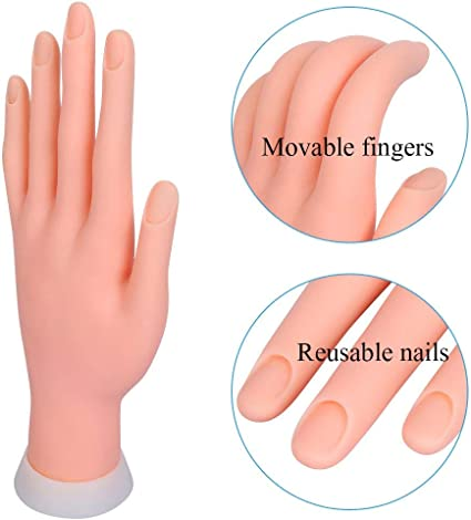 Nail Hand Practice Model Movable Fake Fingers Reusable For Acrylic Nail For Nail Art Practice Manicure Practice Amazon Ca Beauty