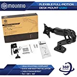 Mountio Full Motion LCD Monitor Arm - Gas Spring
