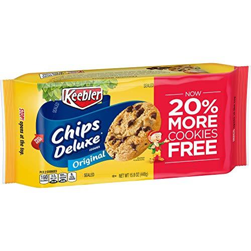 Keebler Chips Deluxe Cookies, Original Chocolate Chip, 12 Count