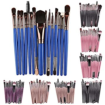 Amazon.com: MAANGE 15Pcs Makeup Brushes Set brochas ...
