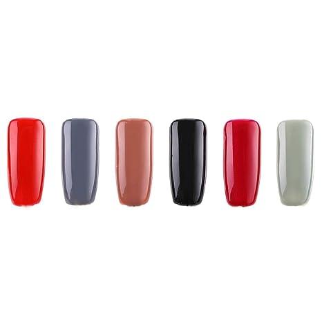 Janolia Juego de esmaltes de uñas, efecto brillante, set de ...
