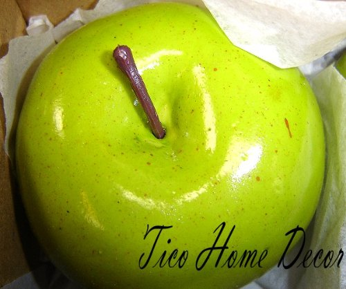 ARTIFICIAL FAKE FRUIT PLASTIC GREEN APPLE 1 PC APPLE