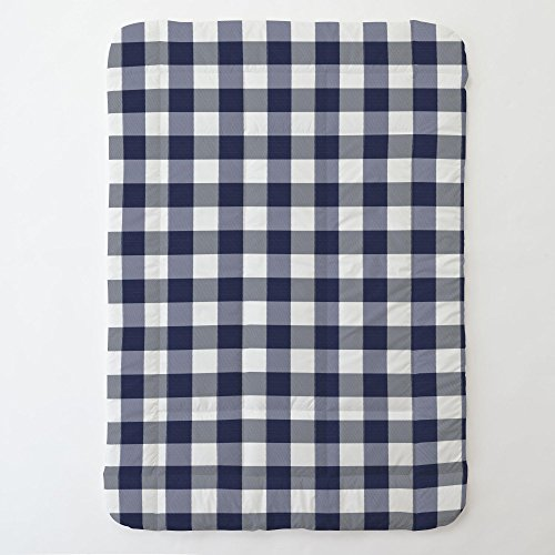 Carousel Designs Navy and White Buffalo Check Toddler Bed Comforter ()