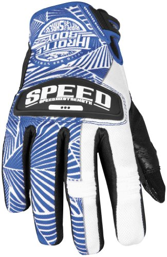 Speed and Strength Womens Throttle Body Leather Mesh Gloves 2013 Blue White M/Medium (Body Strength Throttle Womens)