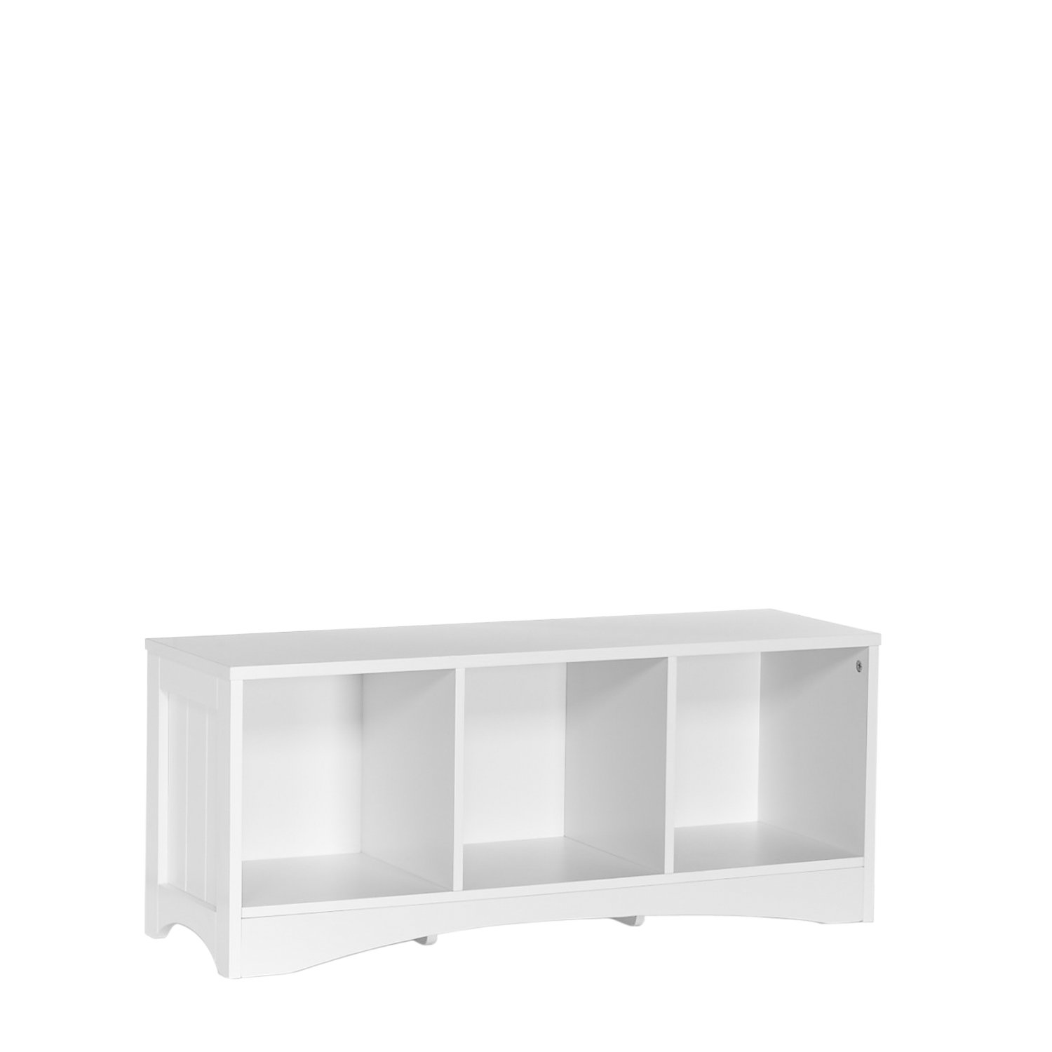 RiverRidge 02-023 Bench with 3 Cubbies for Kids, White