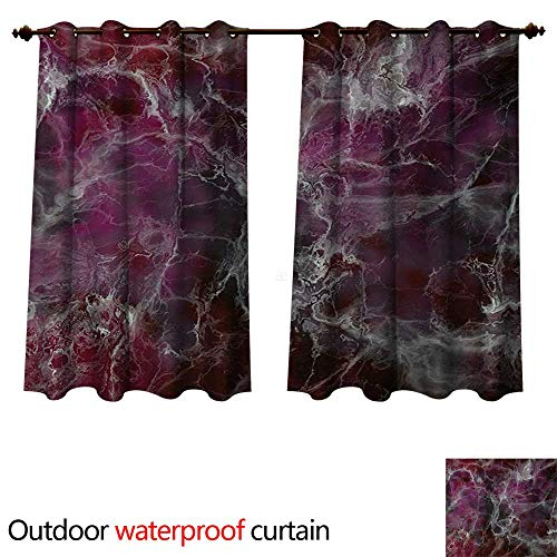 WilliamsDecor Marble 0utdoor Curtains for Patio Waterproof Psychedelic Stylized Artistic Dark Colors Cloudy Onyx Stone Surface Print W63 x L63(160cm x 160cm) (Lattice Onyx)
