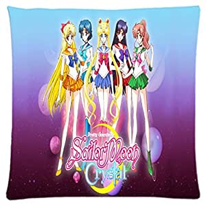 ailormoon Japan Anime ~ Durable Unique Throw Square Pillow Case 18X18 inches Fashionable Diy Custom Personalized Pillowcase Design by Engood by icecream design